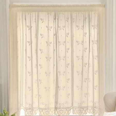 Heritage Lace Heirloom Graphic Print & Text Sheer Rod pocket Single Curtain (Heirloom Curtains Sheer)