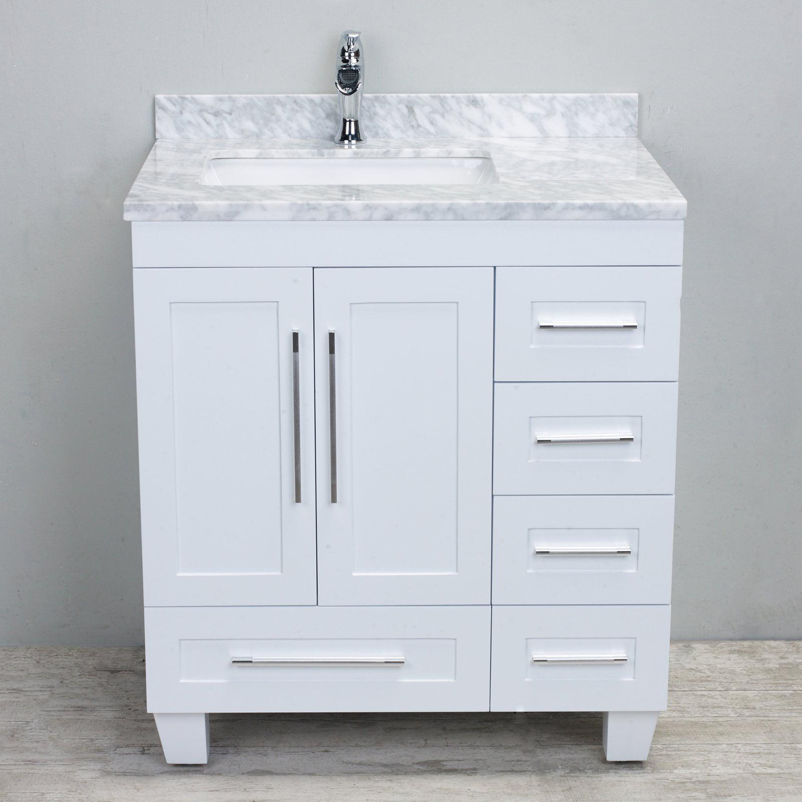 Eviva Loon 30 in. Single Sink Bathroom Vanity - White