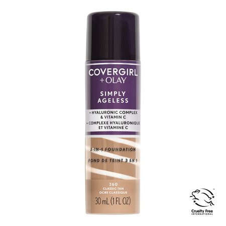 COVERGIRL + OLAY Simply Ageless 3-in-1 Liquid Foundation, 260 Classic