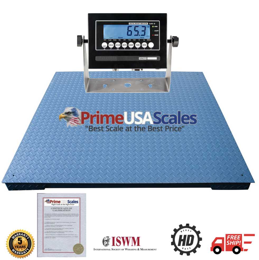 0.5 lb 2/'x2/' Heavy Duty Floor Scale warehouse New NTEP 2500 lb industrial