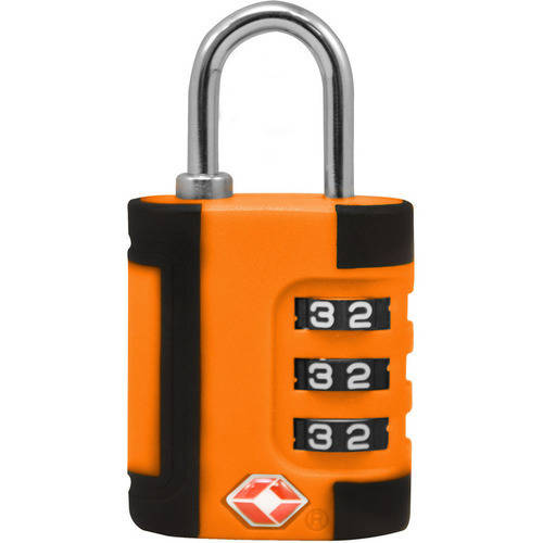 TraverGo Two Tone 3 Digit Combination Lock, Blue TR1100BL