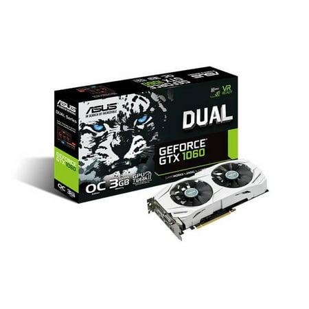 Asus NVIDIA Dual GeForce GTX 1060 OC 3GB GDDR5 DVI 2HDMI 2DisplayPort PCI- Express Video Card - Walmart.com b3248a4ea3fa9