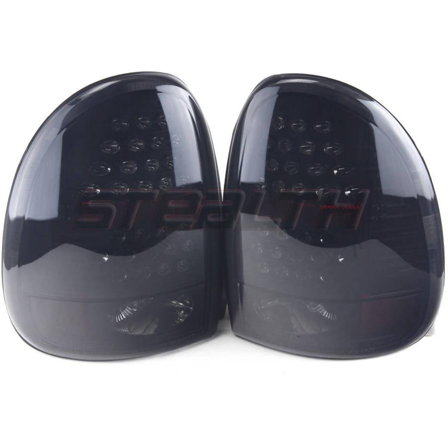 Tail Light For 96-00 Dodge Caravan Black/Smoke Lens, Pair