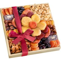 Golden State Fruit Gourmet Harvest Bloom Dried Fruit and Nut Gift Tray, 10 pc