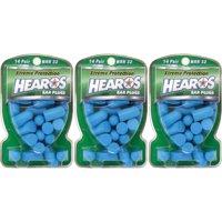 3 Pack - Hearos Xtreme Earplugs - 14 Pairs Each