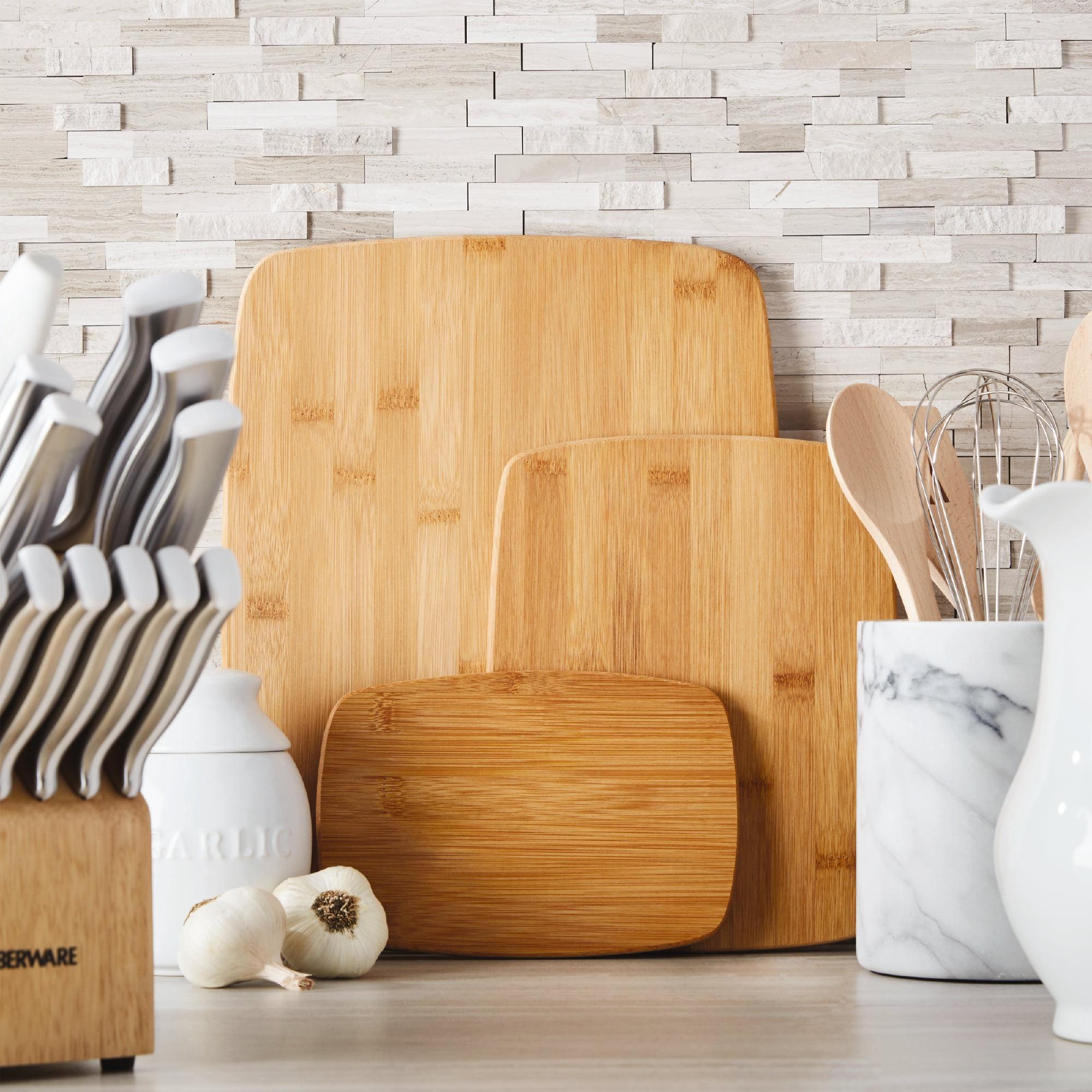 Farberware Classic Three Piece Bamboo Cutting Board Set by Lifetime Brands