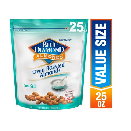 Blue Diamond Almonds, Oven Roasted sea salt, 25 (Best Almond For Health)