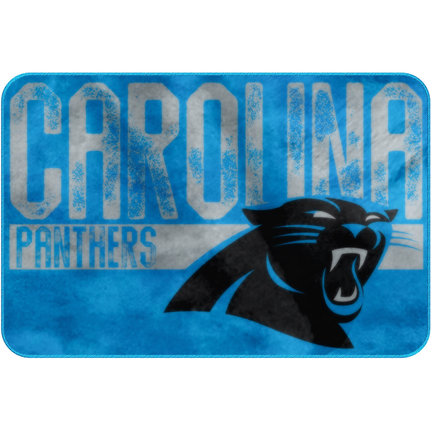 "NFL Carolina Panthers ""Worn Out"" Mat, 20"" x 30"""