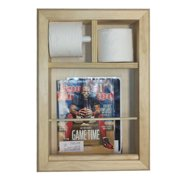 WG Wood Products Wall Mounted Magazine Rack and Toilet Paper Holder