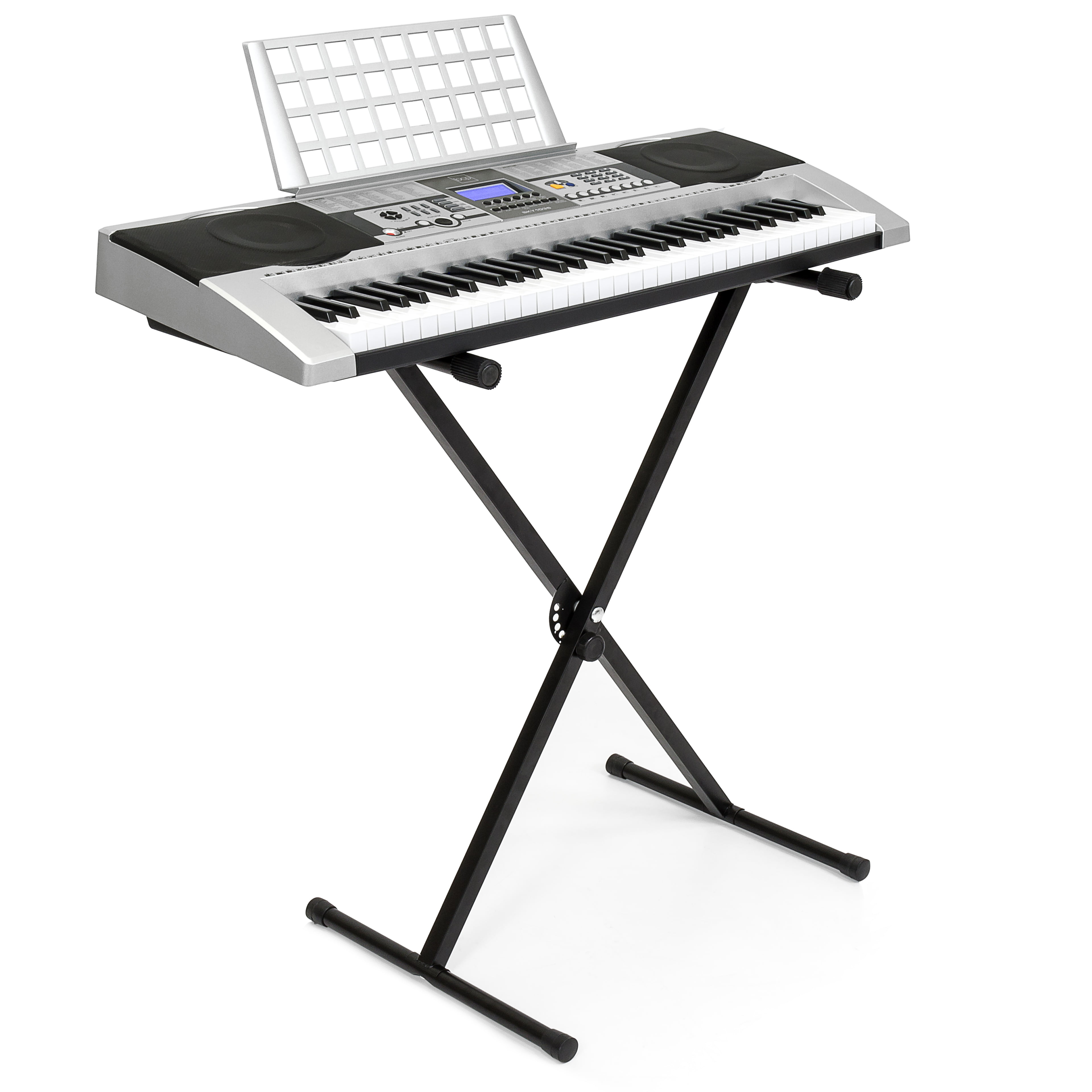 f2da86bd43e Best Choice Products Electronic Piano Keyboard 61 Key Music Key Board Piano  With X Stand Heavy Duty - Walmart.com