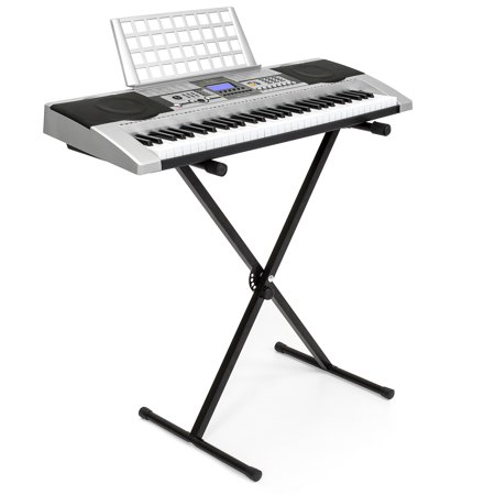 Best Choice Products Electronic Piano Keyboard 61 Key Music Key Board Piano With X Stand Heavy