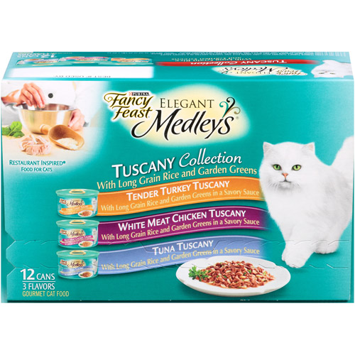 Purina Fancy Feast Medleys Tuscany Collection Cat Food Variety Pack 12-3 oz. Cans
