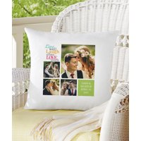 Personalized Live Laugh Love Photo Pillow, Color