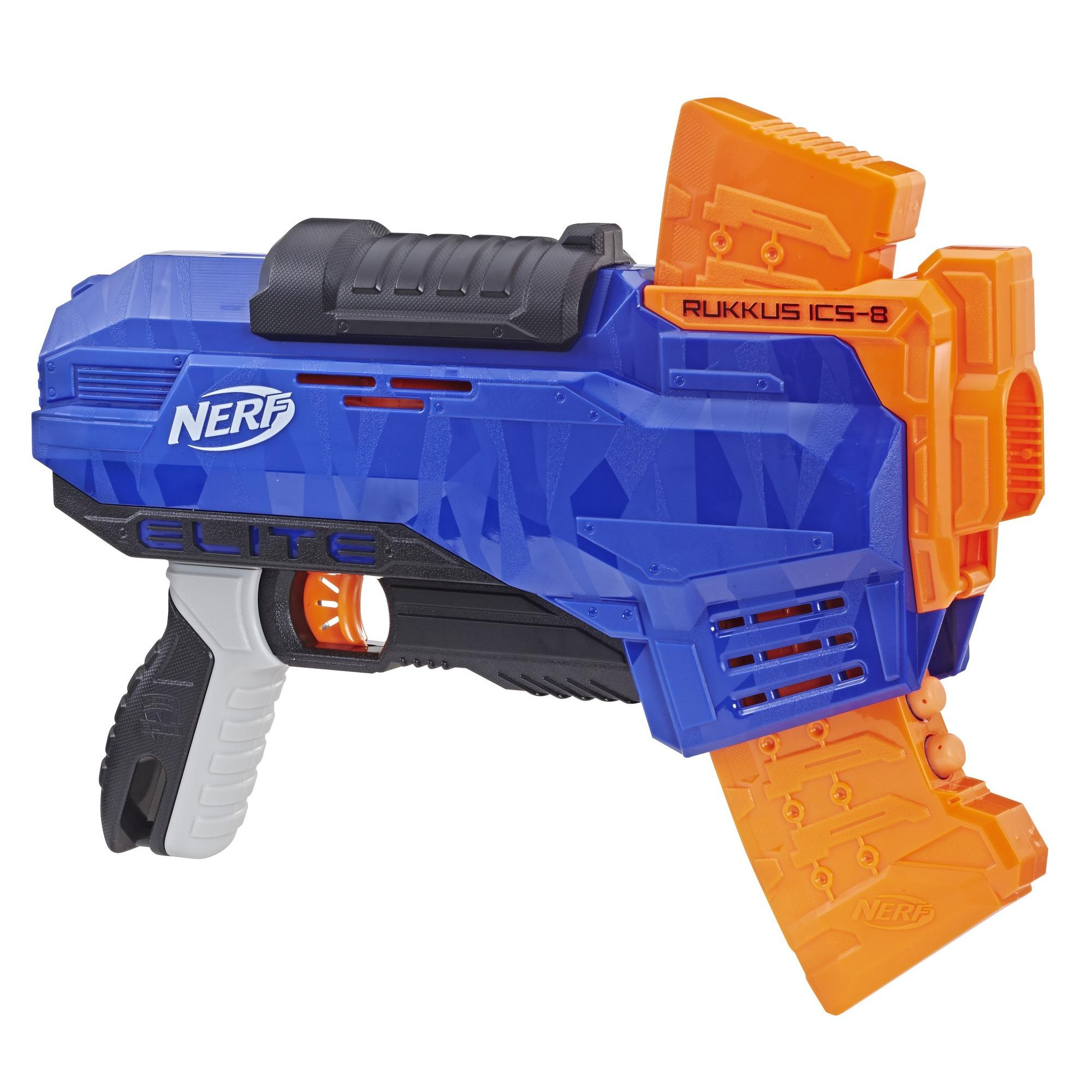 Nerf N-Strike Elite Rukkus ICS-8, for Ages 8 and Up