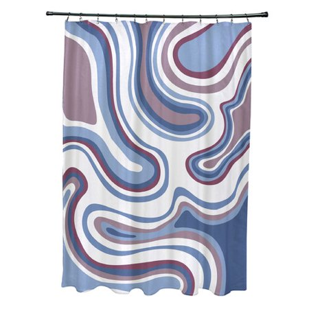 Latitude Run Buenrostro Polyester Agate Geometric Shower Curtain