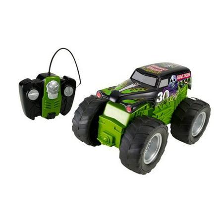 hot wheels rc monster jam grave digger vehicle remote. Black Bedroom Furniture Sets. Home Design Ideas