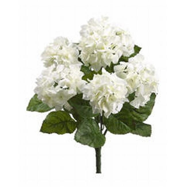 FBH335-CR-WH 22 inch Cream White Hydrangea Bush X5- Case of 6