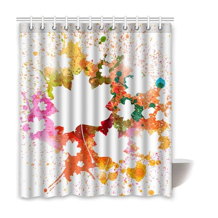 BSDHOME Ink Waterproof Polyester Bathroom Shower Curtain 66x72 Inches - image 1 of 2