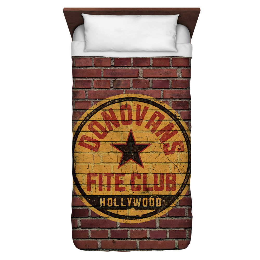 Ray Donovan Fite Club Twin Duvet Cover White 68X88