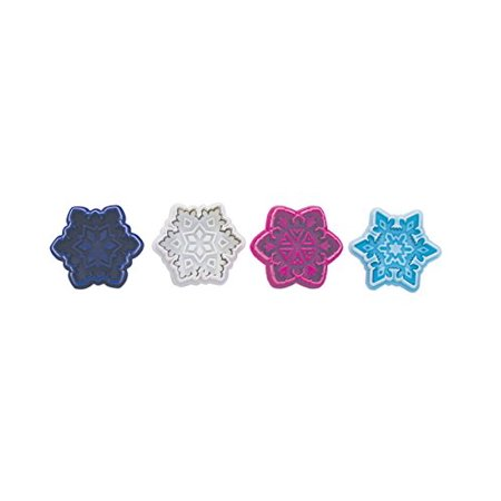 Snowflake Pastry & Cookie Stamper Set - Includes 4 Stamps - 0490 - National Cake Supply - Snowflake Cookie