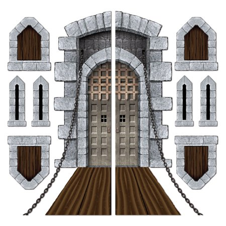 Castle Door & Window Props Party Accessory (1 count) (9/Pkg) - Multicolor - Pkg of 1](Door Props)