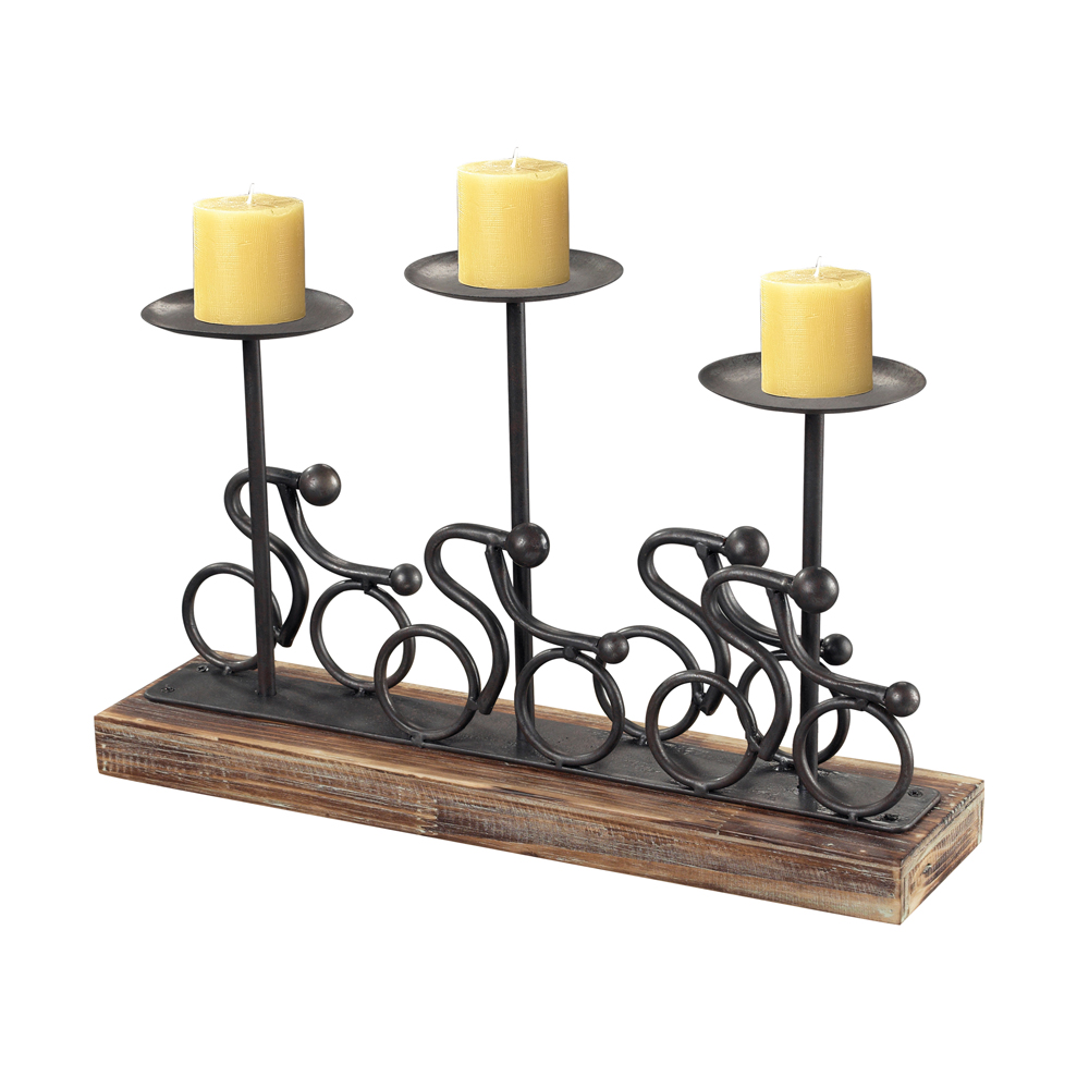 Sterling Industries 138-027 Altringham-Abstract Cyclist Candle Holders