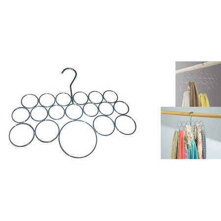Decor Hut Accessory Hanger 18 Loops for Scarf Shawl Easy Neat Hanging Chrome No Snagging