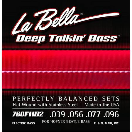 760FHB2 Beatle Bass Flatwound Bass Strings - Light, La Bella 760FHB2 For Hofner