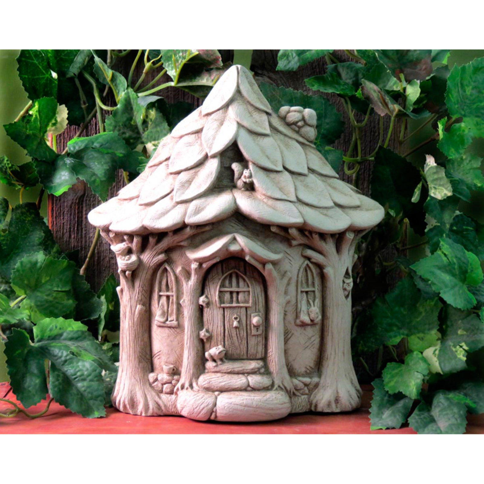 Carruth Studio Critter Cottage Wall Plaque / Garden Statue