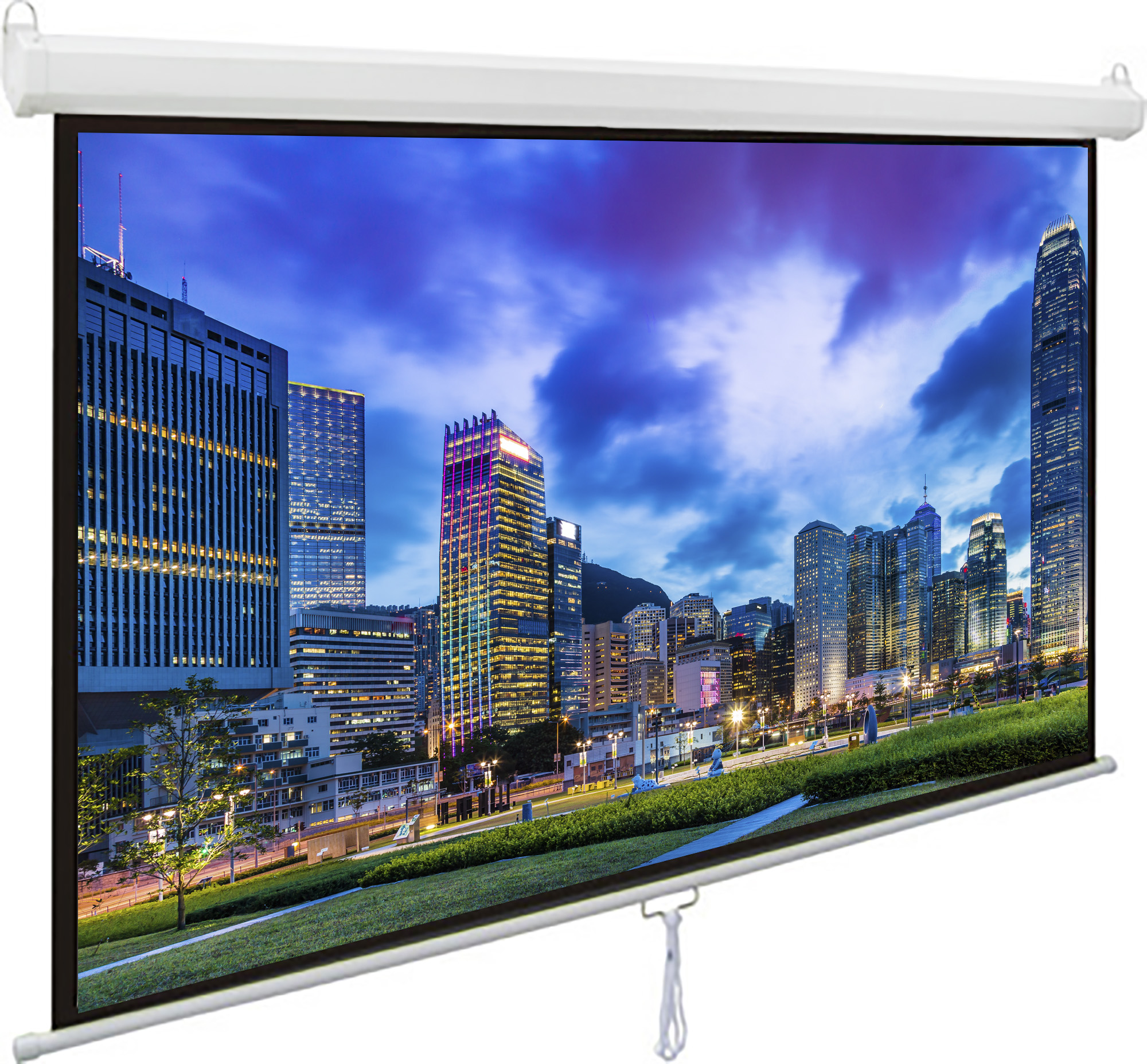 "VIVO 119"" X 84"" X 84"" Projector Screen Projection HD Manual Pull Down Home Theater PS-M-084"