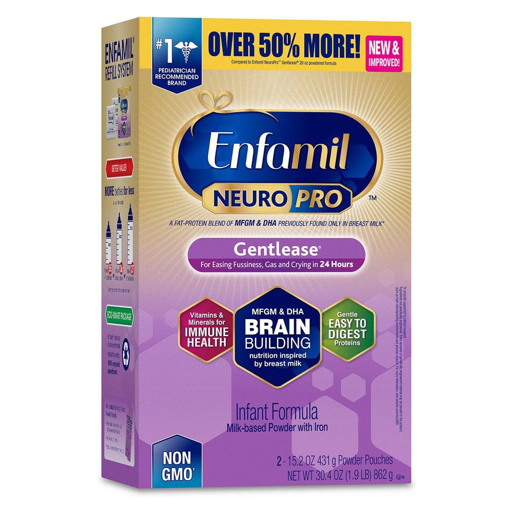 Enfamil NeuroPro Gentlease Infant Formula, Powder (Pack of 4)
