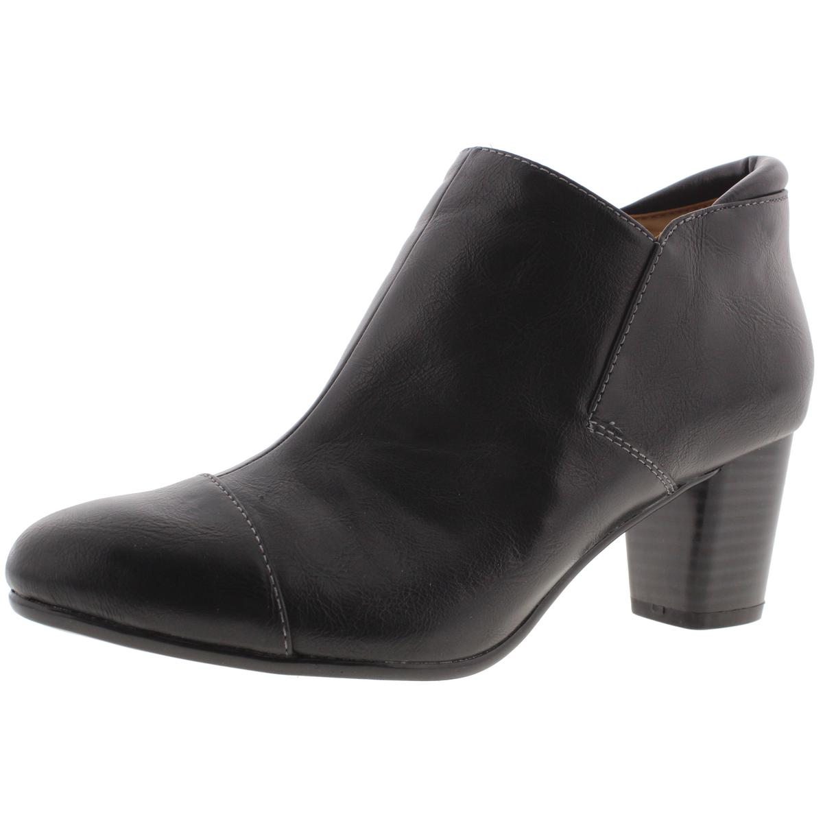 Naturalizer Womens Neebo Faux Suede Stacked Heel Ankle Boots by Naturalizer
