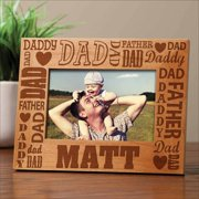 Personalized Words for Dad Frame
