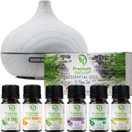 Aromatherapy Essential Oils & Diffuser Gift Set Limited