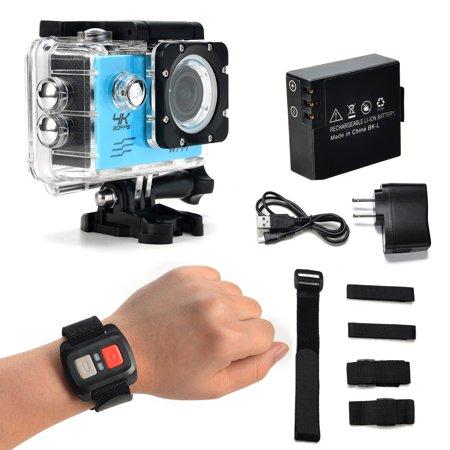 AGPtek Sports Action Camera Ultra HD 4K Waterproof DV Camcorder 12MP 170 Degree Wide Angle Diving Camera - image 6 of 7