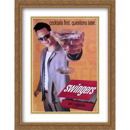 Swingers 28x36 Double Matted Large Gold Ornate Framed Movie Poster Art Print