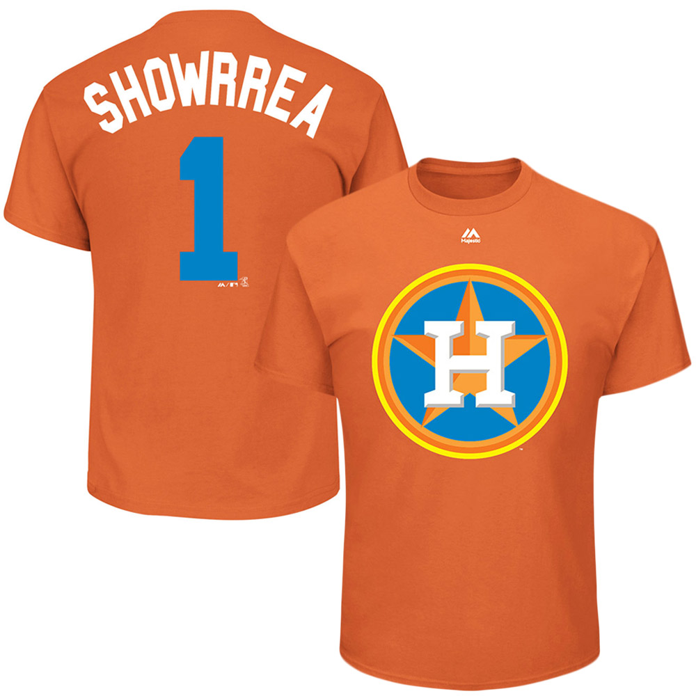 "Carlos Correa ""Showrrea"" Houston Astros Majestic 2017 Players Weekend Name & Number T-Shirt - Orange"
