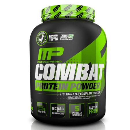 MusclePharm Combat Protein Powder, Chocolate Milk, 25g Protein, 4