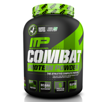 MusclePharm Combat Protein Powder, Chocolate Milk, 25g Protein, 4lb, 64oz