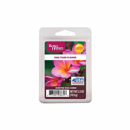 Better Homes And Gardens Wax Cubes Pink Tiare Flower