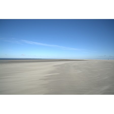 Canvas Print Norderoogsand Sandbar Nature Protection Zone Stretched Canvas 10 x 14