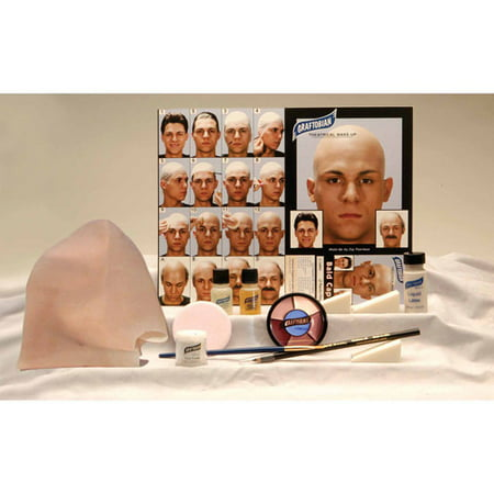 Professional Bald Cap Complete Kit Adult Halloween Accessory