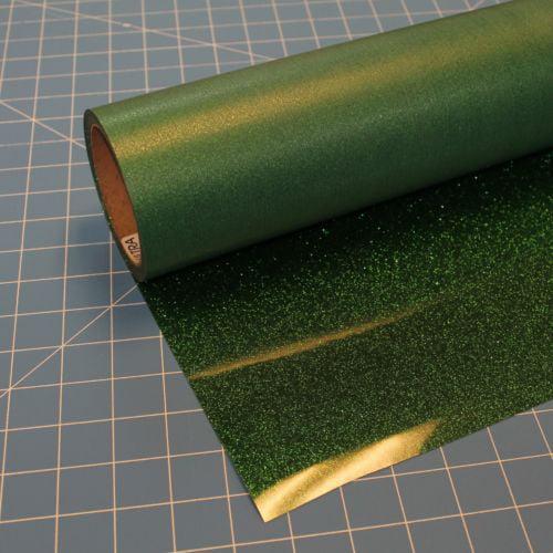 """Green Glitterflex Ultra 19.5"""" x 10' Roll Glitter, Heat Transfer Vinyl, HTV"""