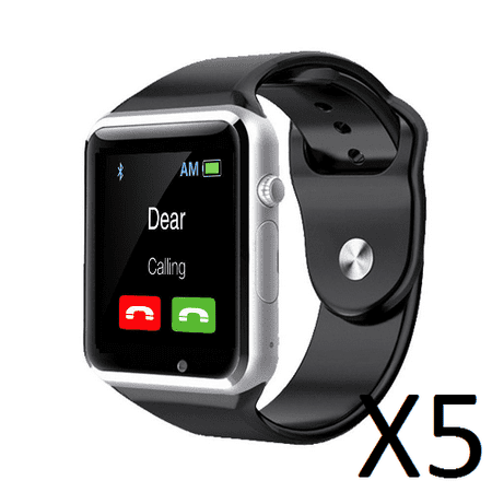AmazingForLess 5 Pack G-10 Black Smart Watch Wholesale Lot Touch Screen Bluetooth Smart Wrist Watch - Supports SIM + Memory (Wholesale Witch)