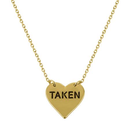 Lux Accessories Delicate TAKEN Heart Boyfriend Girlfriend Gift Pendant Charm