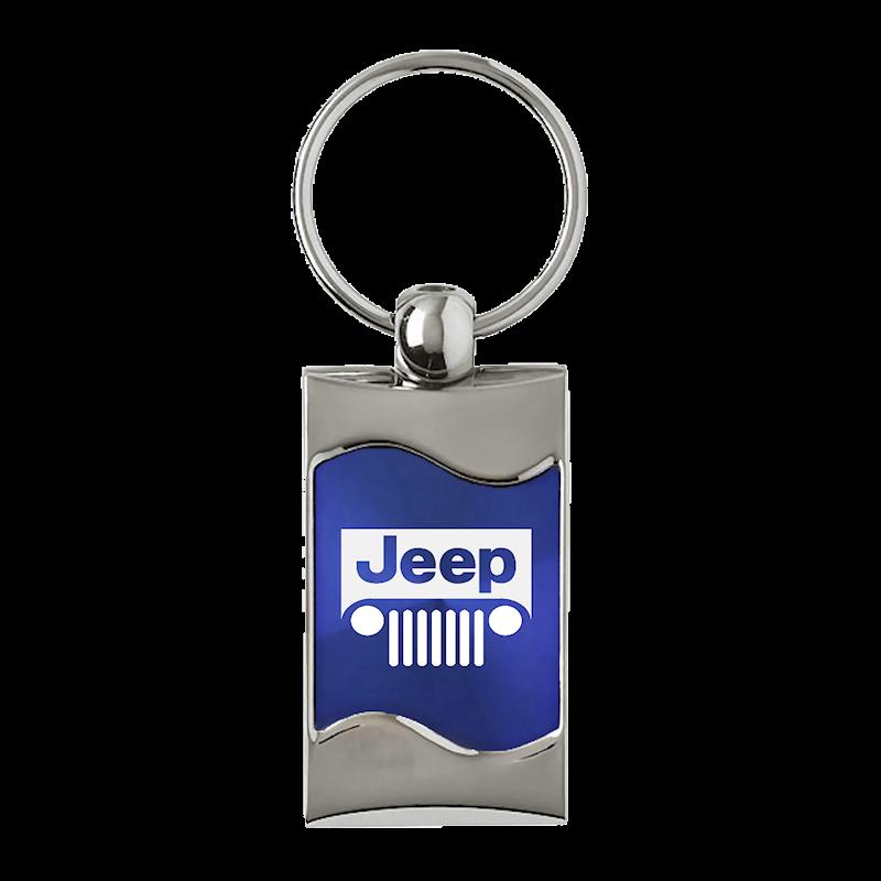 Au-TOMOTIVE GOLD Jeep Grill Rectangular Wave Pink Key Fob
