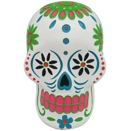 Day Of The Dead Resin Sugar Skull Halloween Decoration, White Halloween Decoration (Day Of The Dead Difference Between Halloween)