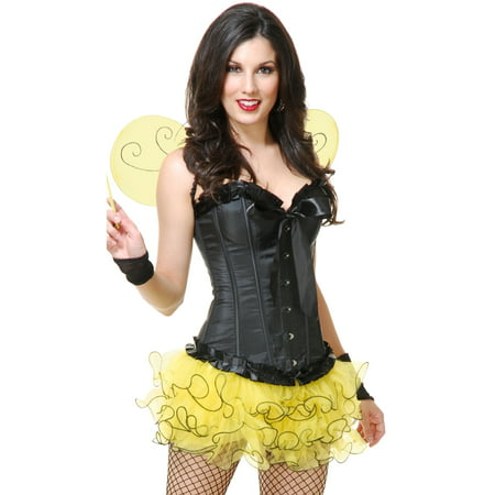 Womens Small-Medium Yellow Insect Cute Tutu and Wings Costume Set