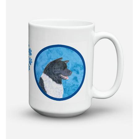 Akita Dishwasher Safe Microwavable Ceramic Coffee Mug 15 ounce SS4797
