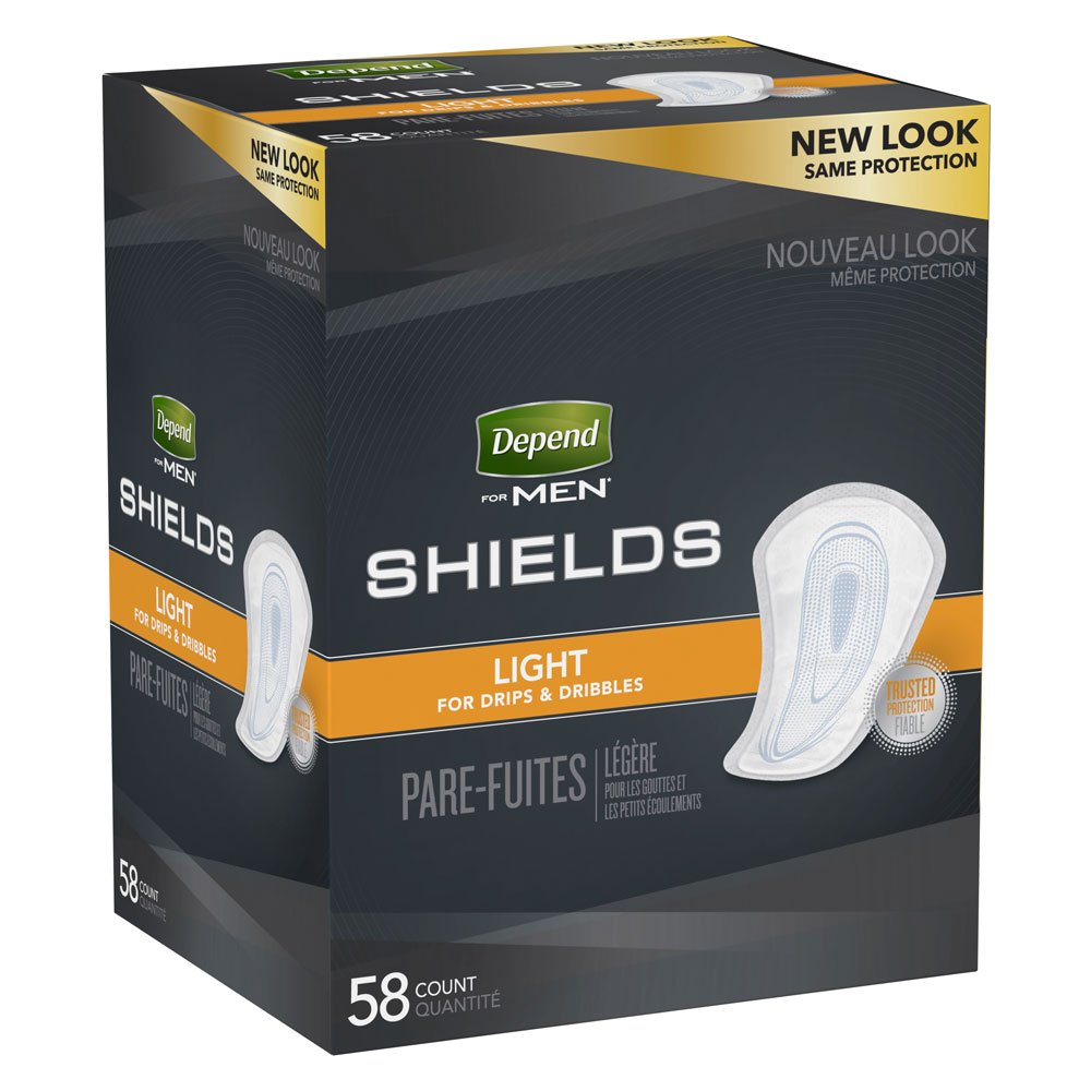 Depend Incontinence Shields for Men 35641 One Size Fits Most Case of 174, White